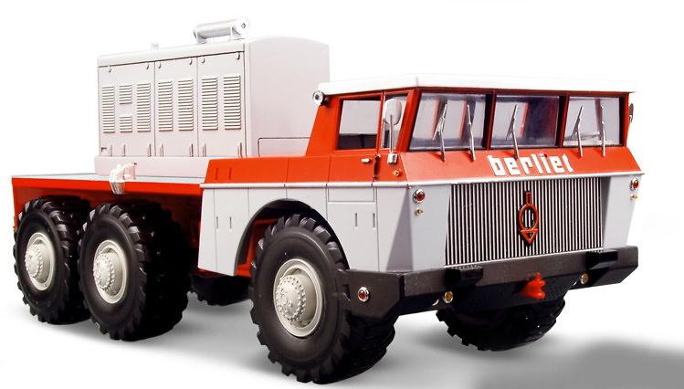 Berliet T100 nº4 Rojo-Gris Norev 690032 escala 1/43