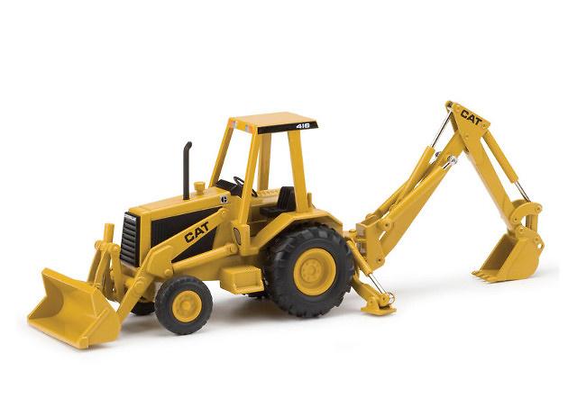 Caterpillar 416 retro excavadora, Norscot 55271 escala 1/32