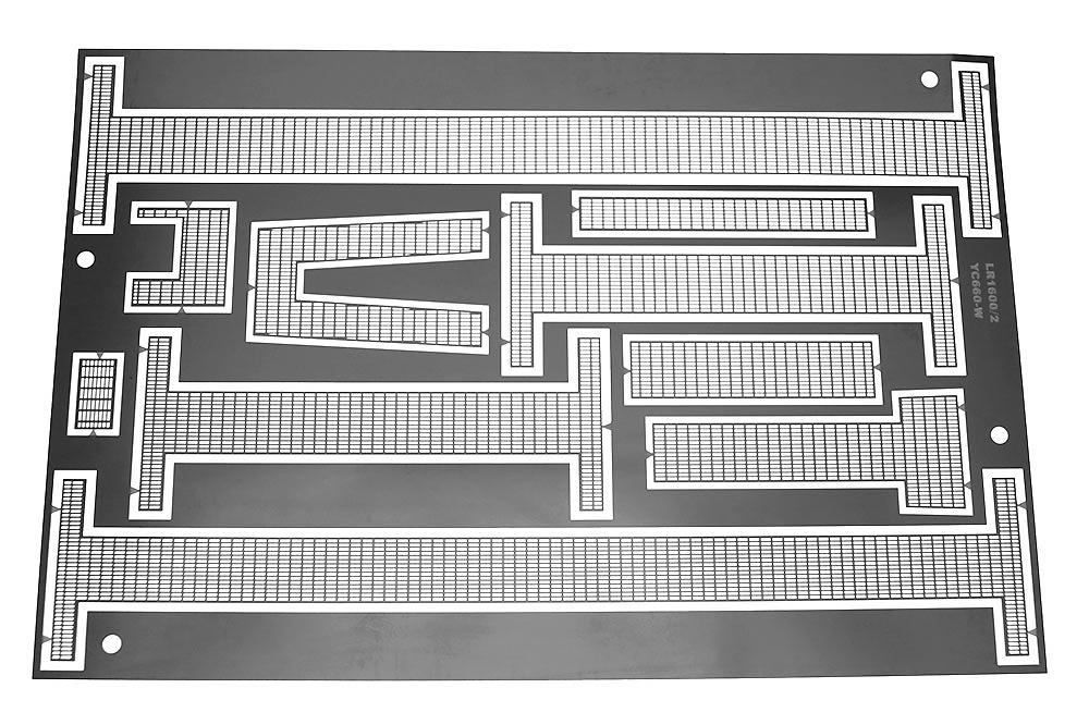 Etch piece of walkways for Liebherr LR 1600/2 Ycc Models yc660 escala 1/50