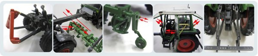 Weise toys 1011 Fendt Tractor 1/32
