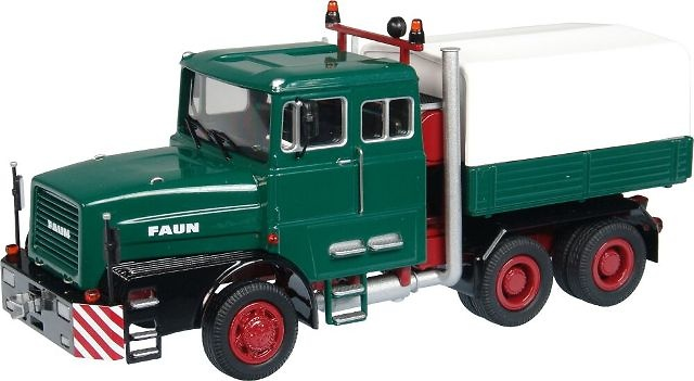 FAUN 1206 Camión especial Verde NZG 1/50