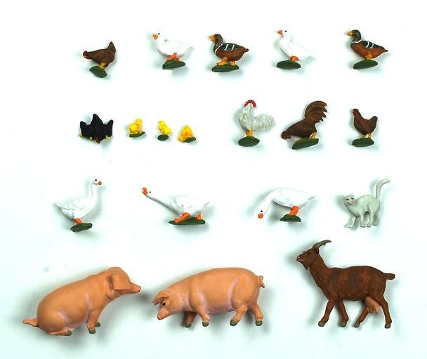 Figuras Animales de Granja Preiser 1/43