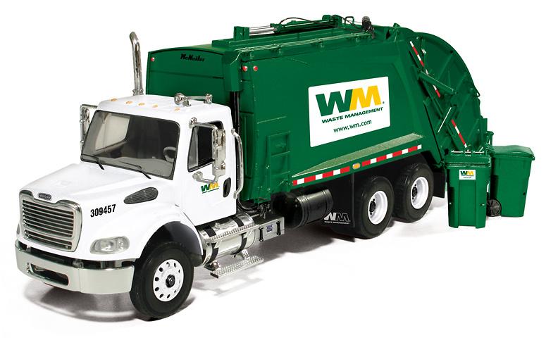 Freightliner M-2 camion de basura con contenedores, First Gear 1/34 3287