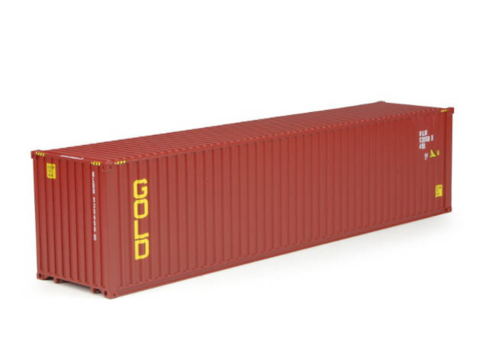 Gold container 45 ft. container Tekno 64550 escala 1/50