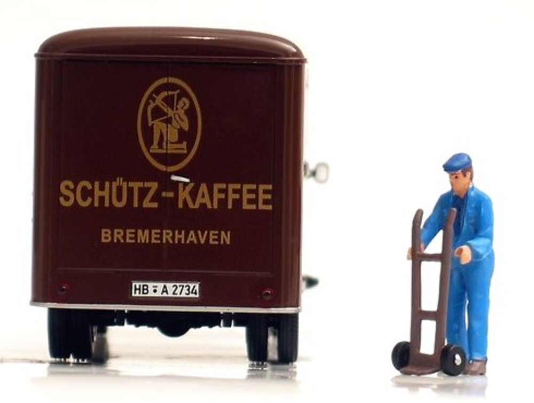 Hanomag Courier 1960 Cafe Schuetz Norev 820521 escala 1/43