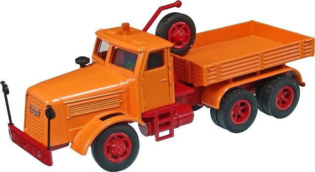 KAELBLE KDV 22 Z 8 T cabeza tractora con plataforma color naranja, NZG 1/50