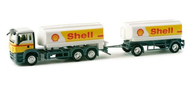 MAN TGS M transporte gasolina Shell, Herpa 157582 escala 1/87