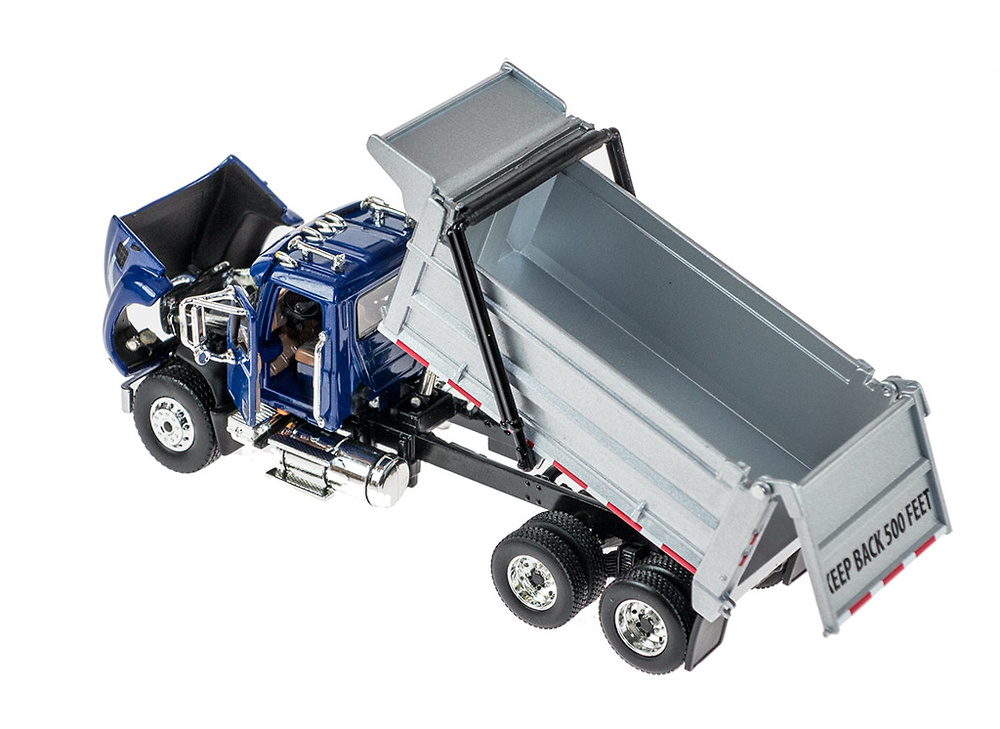 Mack Granite con dumper azul First Gear escala 1/64