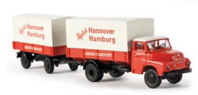 MAN 635 Union Camion con remolque 1/87 Brekina