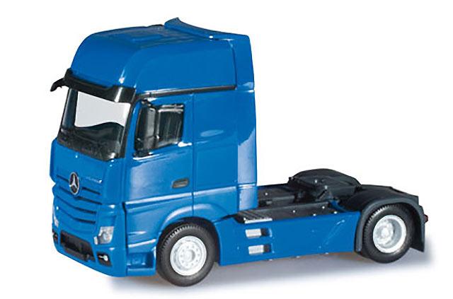 Mercedes-Benz Actros Giga cabeza tractora azul Herpa 159173-004 escala 1/87