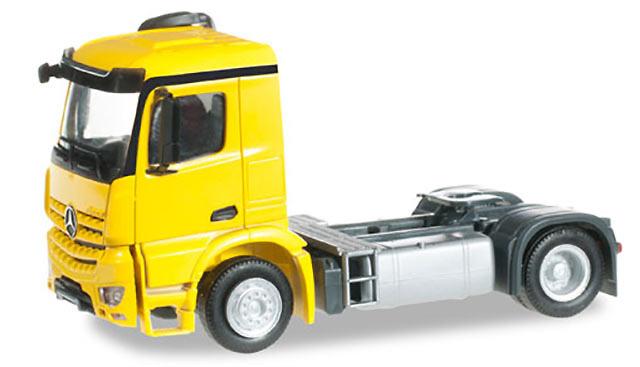 Mercedes-Benz Arocs M camion amarillo Herpa 302418 escala 1/87