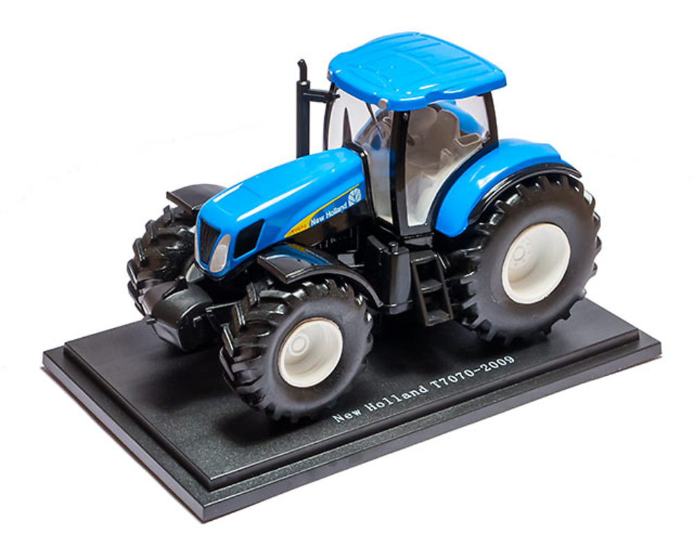 New Holland T7070 - 2009 - coleccion HACHETTE / Universal Hobbies escala 1/43
