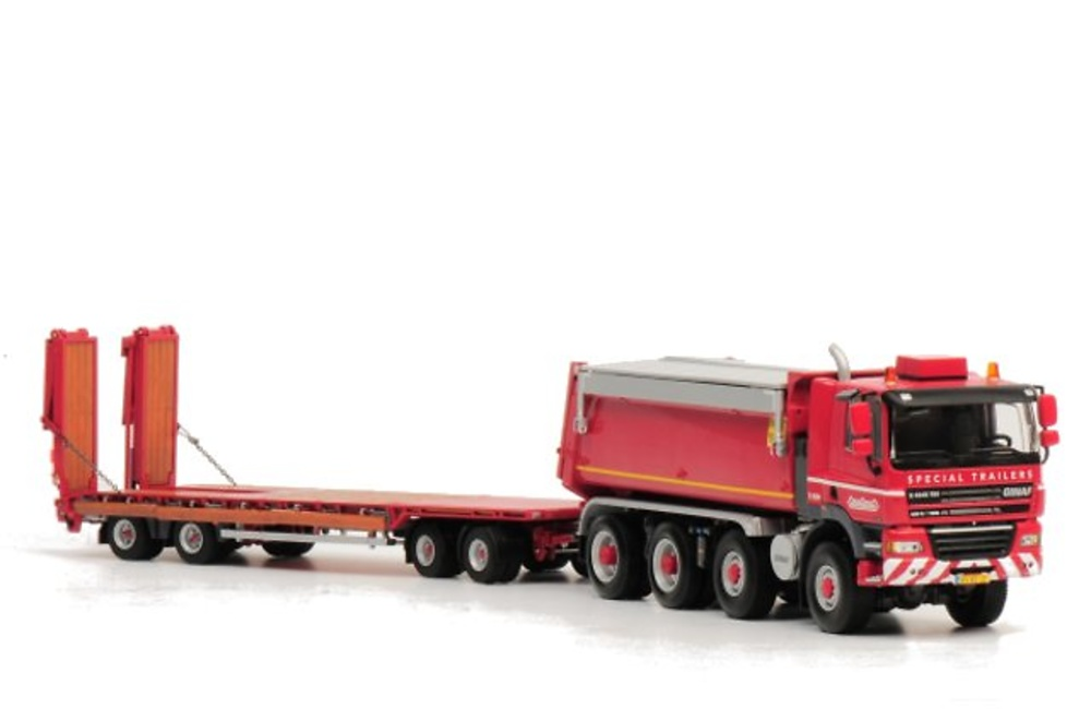 Nooteboom ASD-40-22 drawbar trailer with GINAF 8x6 tipper, Wsi Collectibles 1/50