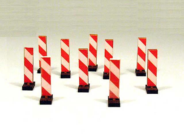 Poste de seguridad Roja y blanca a rayas Set 10 unidades Zapf Modelle 5007981 escala 1/50