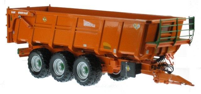 Remolque Dangreville Benne 3 ejes Ros Argitec 60203 escala 1/32