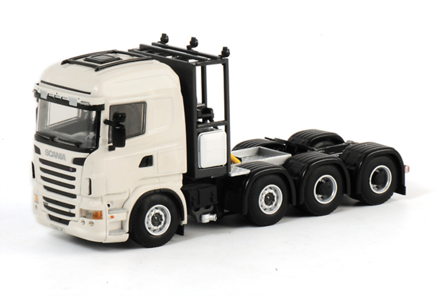 Scania R6 Highline 8x4 blanco, Wsi Collectibles 1/50