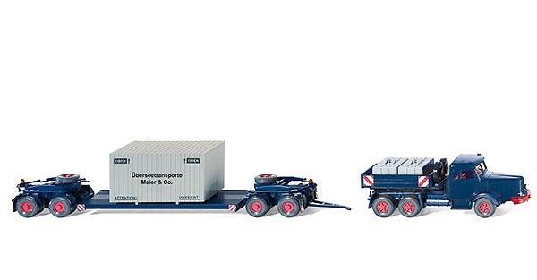 Scheuerle cama baja 4-ejes + Krupp Titan, Wiking 1/87 085136
