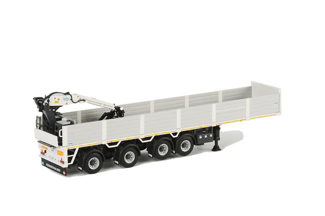 Semiremolque transporte piedras con grua 4 ejes, Wsi Models 1/50