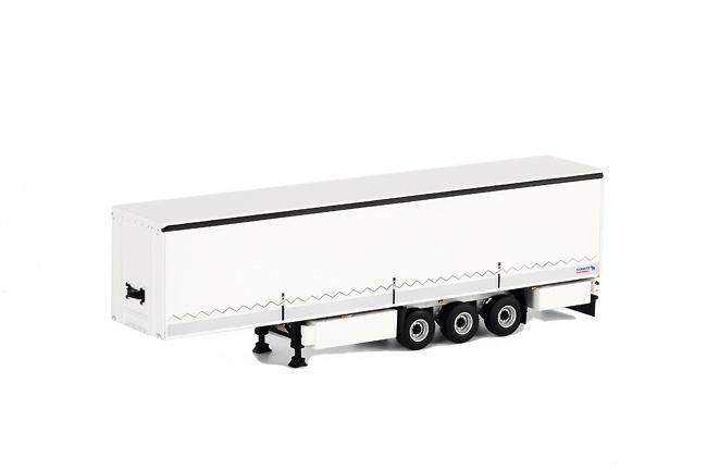 tautliner 3 ejes blanco Schmitz Cargobull, Wsi Models 1073 escala 1/50