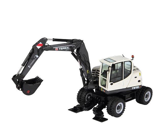 Terex TW 110 Excavadora Giratoria Ruedas NZG 901 escala 1/50