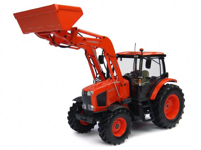 Tractor Kubota M135GX con cargadora frontal Universal Hobbies 4192 escala 1/32