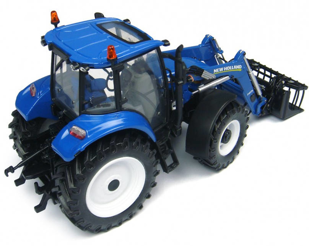 Tractor New Holland T5.115 with 740TL loader Universal Hobbies 4274 escala 1/32