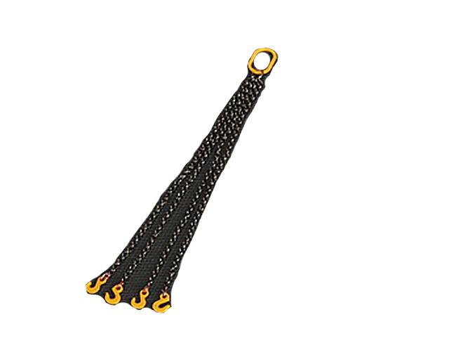 YC302-Y cuatro cadenas con gancho 4 cm - amarillo Ycc Models escala 1/50