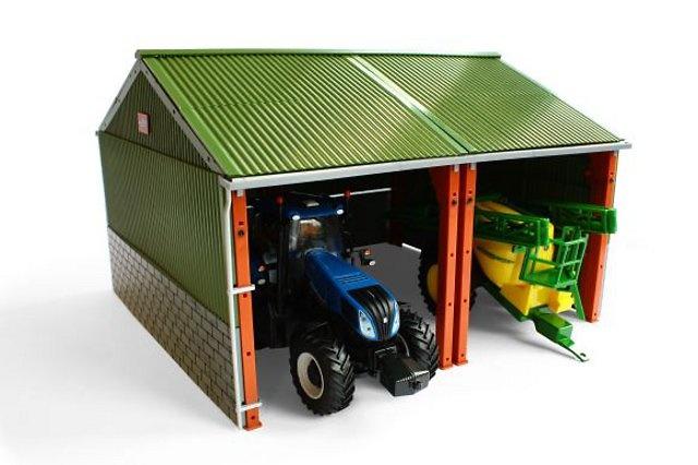 nave para maquinaria agricola, Britains 42808 escala 1/32