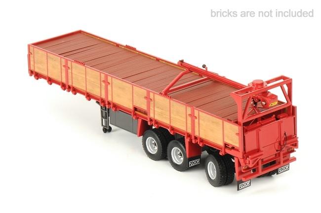 transporte piedras classico - rojo, Wsi Models 13-1020 escala 1/50