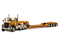 CT680 8x4 Yellow Rogers 4-Axle Lowboy - Yellow Wsi Models 39-1010