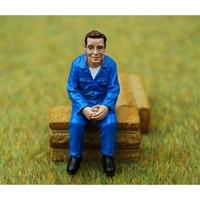 Figura Agricultor sentado Agri Collectables ADF 32100 escala 1/32