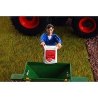 Figura Landwirt entleert einen Sack Agri Collectables ADF 32104 Masstab 1/32