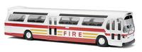 Fishbowl Bus Bomberos New York Busch  44550 1/87
