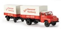 MAN 635 Union Lkw mit Anhänger Brekina 45029 Masstab 1/87