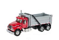 Mack Granite con dumper rojo First Gear escala 1/64