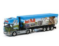 Scania R Topline Volumenkippauflieger  Wsi Models 01-1223 Masstab 1/50