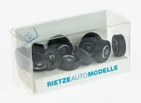 Set 12 ruedas de camion - llantas plateadas incl. ejes  Rietze 70084 escala 1/87