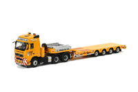 Vismara 4-axle semi remolque cama baja Nooteboom + Volvo FH2 Wsi Models 02-1536 escala 1/50