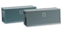 contenedor obra 20 ft gris Herpa 053600 escala 1/87