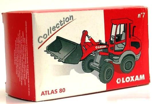 ATLAS 80 Oloxam Pala cargadora NZG 444 escala 1/50