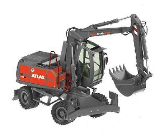 Atlas 140W excavadora con ruedas, NZG 837 escala 1/50