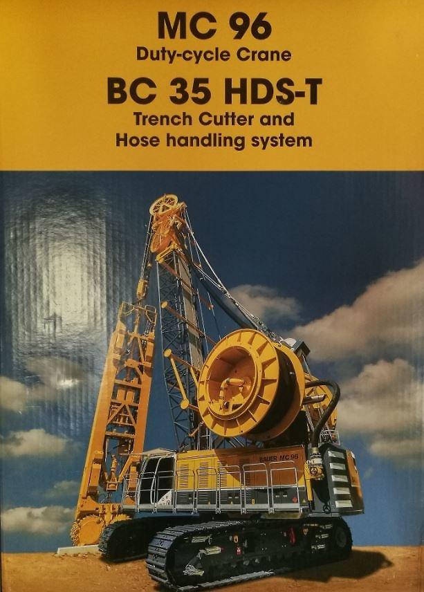 Bauer MC96 con fresadora BC 35 + HDS-T Bymo 25027/01 escala 1/50