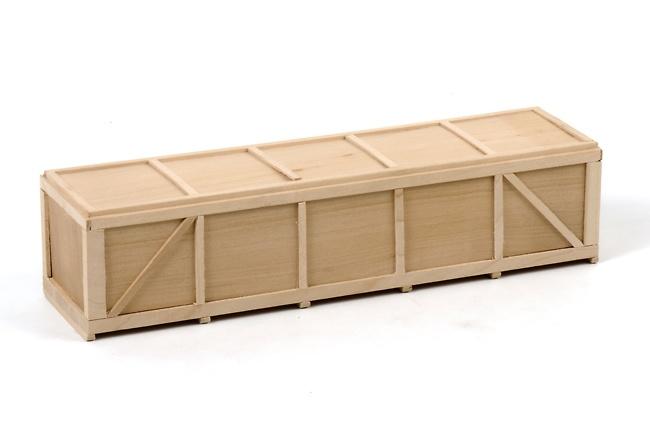 Caja de madera grande 24 cm para carga, Wsi Models 1/50