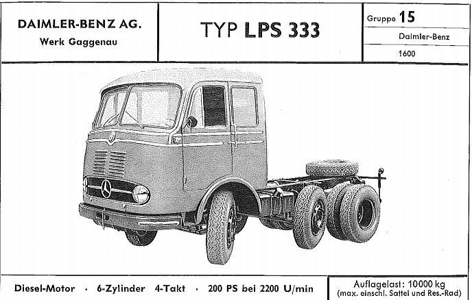 Camion Mercedes Benz LPS 333 - Ixo Models 1/43