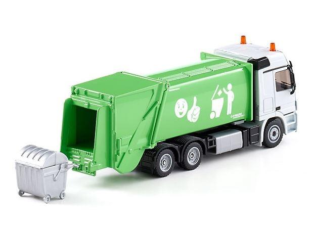 Camion de basura Mercedes - Faun Variopress Verde Siku 2938 escala 1/50