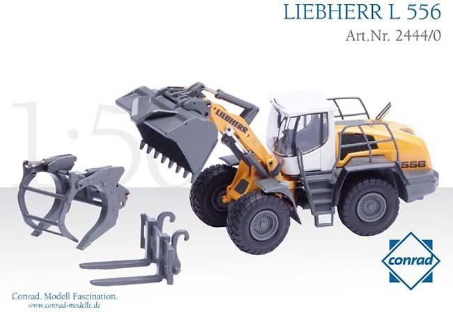 Cargadora Liebherr L 556, Conrad Modelle 2444 escala 1/50