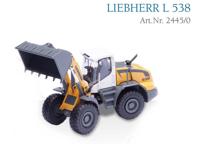 Cargadora ruedas Liebherr L 538, Conrad Modelle 2445 escala 1/50