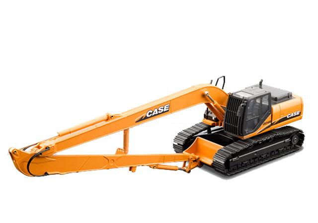 Case CX240B Long Reach excavadora con cadenas metalicas Conrad Modelle 2201 escala 1/50