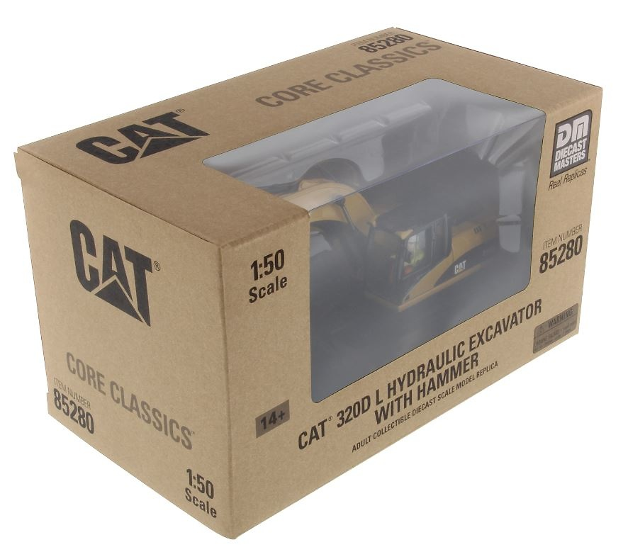 Cat 320D L excavadora + martillo Diecast Masters 85280 escala 1/50