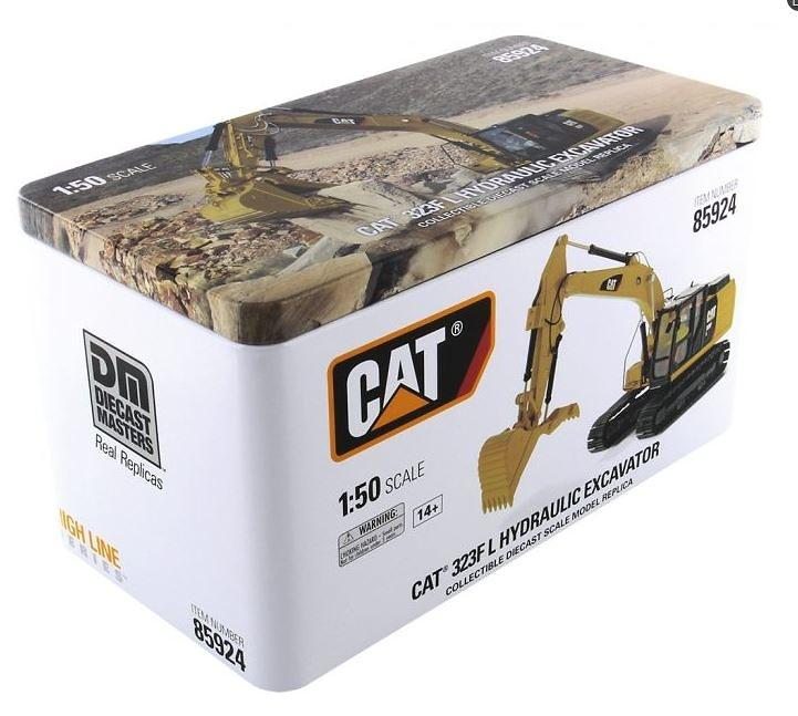 Cat 323f L excavadora Diecast Masters 85924 escala 1/50